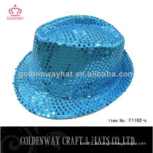 Großhandel Pailletten Fedora Hut blinkende Hüte