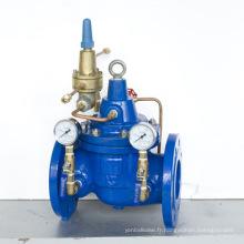 Soupape de réduction de pression de revêtement époxy en fonte ductile