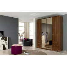 Classic Design Wooden Wardrobe Cabinet with Mirror (HF-EY090411)