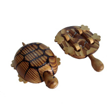 juguete de tortuga animal de madera para niños o decoración hecha de madera