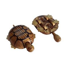 brinquedo tartaruga animal de madeira para crianças ou decoração feita com madeira