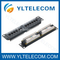 1U 10 pouces 12port type de Patch Panel CAT 5e et Cat.6