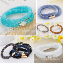 Hot Double Wrap Crystal Stardust Bracelet with Magnet Clasp Ladies Jewelry fashion bracelet BCR035