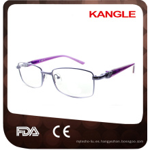 Los marcos ópticos económicos más nuevos del metal de la línea básica / anteojos del metal para señora