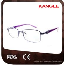 Les plus récents cadres optiques métalliques de ligne de base économique / lunettes en métal pour la dame