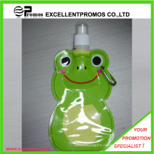 Customized Foldable Plastic Water Bottle with Stainless Steel Ring (EP-B125515)