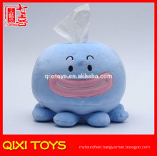 Wholesale octopus tissue box plush tissue paper box