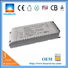 30w plastique 0-10v dimmable led driver