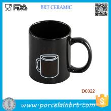 Taza de cerámica del té sensible al calor del vapor de agua