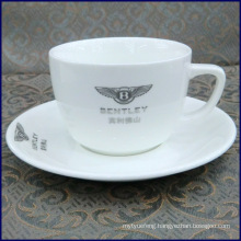 bone china coffee cup & saucer with logo