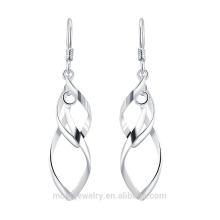 2015 neue Design 925 Silber Wrap Draht baumeln Ohrring