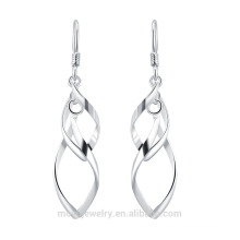 2015 new design 925 silver wrap wire dangle earring