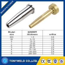 Piezas de la antorcha de corte gas boquilla de corte / punta 6290NFF boquilla de gas