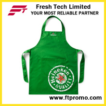 Personalizado de alta qualidade 100% poliéster/algodão impresso promocional de cozinha avental do Bib