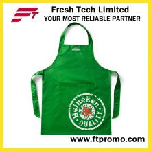 100% Polyester / Baumwolle Hochwertige benutzerdefinierte bedruckte Werbe-Küche Lätzchen Schürze