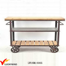 Vintage Industrial Bar Kitchen Serving Table Trolley