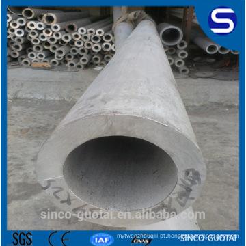 Tubulação soldada de aço inoxidável de Wenzhou / peso / tamanhos