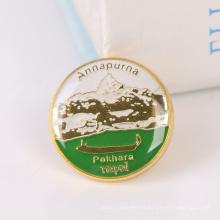 De Bonne Qualité Badge fait sur commande de bouton en métal de forme ronde de prix bas