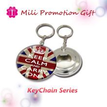 Le porte-clés le plus bon marché en métal avec l'ouvre-bouteille Fonction 2in1