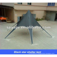 Black star shelter tent for family gathering /outdoors(party furniture)