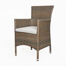Conjunto de jardín de mimbre muebles de Patio al aire libre silla de la rota