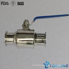 Válvula de esfera de aço inoxidável sanitária com extremidades de pinças