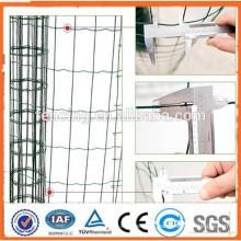 Anping High quality galvanized PVC coated Park Low carbon steel Euro fence