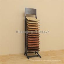 Exhibición del metal que exhibe el soporte de exhibición, soporte al por menor del piso del soporte de madera del gancho del soporte