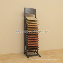 Metal Showroom Advertising Display Stand, Retail Floor Hook Wood Flooring Display Stand Free Standing