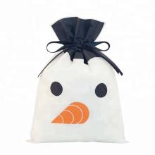Type de cordon de sac d'emballage de bonhomme de neige de Noël