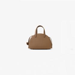 Khaki thin shoulder strap shell bag