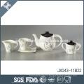 Línea de flores diseño de la calcomanía de tamaño personalizado porcelana de porcelana real de té conjuntos