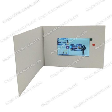 5.0inch Advertising Player, LCD Video Brochure, MP4 Greeting Card
