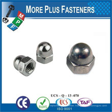Made in Taiwan Stainless Steel Brass Aluminium Silicone Bronze Hexagon Domed Cap Nuts DIN 1587