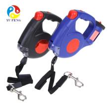 Trela do cão flexível de alta qualidade, trela automática do cão com luz do diodo emissor de luz e cão da trela do saco de plástico