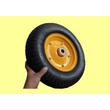 """Brouette roues, pneumatiques en caoutchouc roues de 16 """"X 480/400-8, les deux métaux, et les jantes en plastique sont disponibles"""