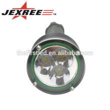 Bright Flashlight 3T6 CREE XM-L2 Lampe LED Auto-défense Tactical Light Avec ongle en acier inoxydable