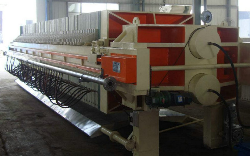 membrane type sludge filter press