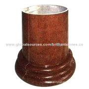 Maple Red Granite Pillar, Used as Column Bases, Polished, Different Designs, Suitable for Decoration