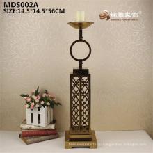 Оптовые продажи покрытие золото цвет высокая металлическая статуя подсвечник подсвечник