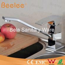 High Qualität Messing Square Langhals Küchenspüle Wasserhahn Wasserhahn mit lange Tülle