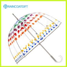 Moda transparente poe dome guarda-chuva