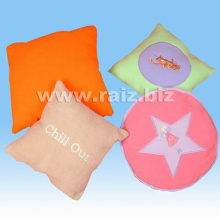 Polyester Fleece Cushion with Embroidery
