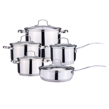Mirror finishing stainless steel cookware set