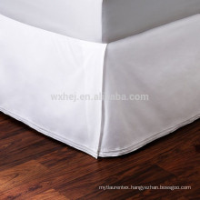 White Cotton Hotel Fitted Bed Skirt Wholesale