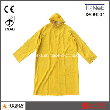 Poncho de pluie adulte pour le Long PVC imperméable réutilisable 0,3 mm