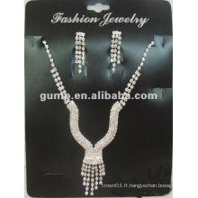 Dernier ensemble de bijoux de mariée (GWJ12-516B)