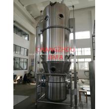 Fluid bed granulating machine