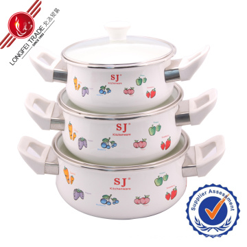 2014 New Design Cast Iron Hot Pot Ceramic Cookware Sets Cast Iron Stew Pot