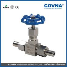 Aço inoxidável 316 Agulha Pressão da válvula Válvula de agulha / óleo de gás swagelok Válvula de agulha